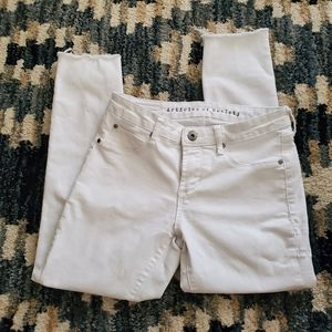ARTICLE OF SOCIETY WHITE DENIM JEANS